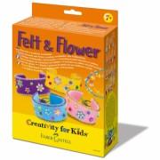 Set Creativity Bratari Felt&Flower Faber-Castell