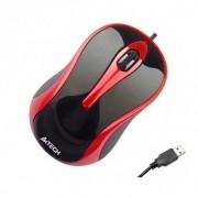 Mouse A4Tech N-350-2, V-Track Padless, USB, Negru/Rosu