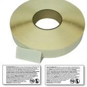 Peel off etiketter rulle, öppna o läs varningstexten, 31,75-63,5mm, ENG/SWE, 1650 per rulle