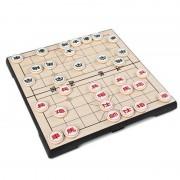 32 Stks/set Draagbare 25x25 cm Opvouwbare Magnetische Chinees Schaken Dammen Stukken Set Plastic Vouwen Schaken met Board Familie Game T28