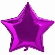 Balon folie 45 cm Stea Fucshia