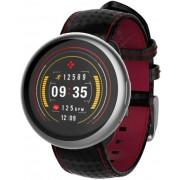 "Smartwatch MyKronoz ZeRound 2 HR Premium, Ecran Touchscreen TFT 1.22"", 64MB RAM, 256MB Flash, Bluetooth, Rezistent la apa si praf (Argintiu/Negru/Rosu)"