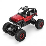 AHAHOO RC Cars 1/18 Remote Control Vehicle 4WD Monster Trucks 12MPH+ 2.4Ghz Radio Controlled Off Road Rock Crawler Electric Buggy with LED Light Metal Shell