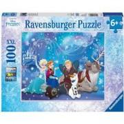 Пъзел Ravensburger 100 елемента, Замръзналото кралство: Ледена магия, 7010911