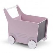 CHILDWOOD Drevený kočík pre bábiky, ružový WODSTRP