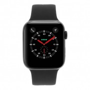 Apple Watch Series 4 - caja de aluminio en gris 44mm - correa deportiva negra (GPS+Cellular)