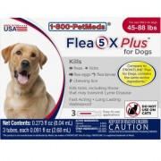 Flea5X Plus - Generic to Frontline Plus 6pk Dogs 45-88 lbs by Sargeant's