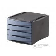 """Suport pentru documente Fellowes """"Green2Desk"""" 4 sertare, plastic, albastru (0019201)"""