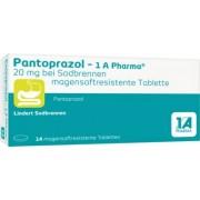 1 A Pharma GmbH PANTOPRAZOL-1A Pharma 20mg bei Sodbrennen msr.Tab. 14 St