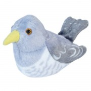 Wild Republic Pluche koekoek vogel knuffel met geluid 13 cm