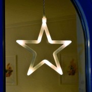 Decorative LED window picture Star, 19 cm