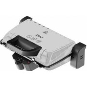 Gratar electric ZILAN ZLN-4021 1600 W Termostat reglabil Placi antiaderente Inox