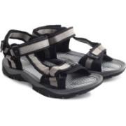 Lotto Men Black, Grey Sports Sandals