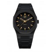 メンズ D1 MILANO A-ES02 Essential Watch Black with Gold Index 腕時計 ブラック