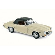1957 Mercedes-Benz 190 SL Convertible, Beige - Norev 183539 - 1/18 Scale Diecast Model Toy Car