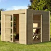 Abri de jardin moderne bois COSY - 6.55 m2