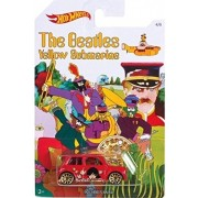 'MORRIS MINI' 2016 Hot Wheels THE BEATLES 50th Anniversary 'YELLOW SUBMARINE' Red Mini Cooper 1:64 Scale Collectible...