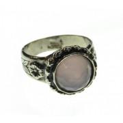 Inel argint cu piatra cuart roz
