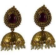 Pourni exclusive Designer Pearl Jhumka Gold finish Earring - PRER131