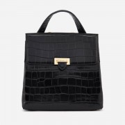 Aspinal of London Women's Boxy Croc Soho Backpack - Black