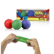 YoYa Toys 3 Pull, Stretch & Squeeze Ball Toys | Elastic Construction Sensory Balls | Ideal For Stress & Anxiety Relief, Special Needs, Autism, Disorders & More