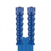 R+M de Wit 10m HD-Schlauch 2SC, DN08, blau, M22 Überwurf auf M22 Überwurf, Nippel Fassung