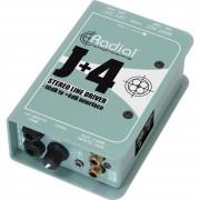 Radial J+4 DI Box estéreo Line Driver
