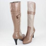 Cizme piele naturala dama - bej, maro, Nike Invest - iarna - C257-Cafe