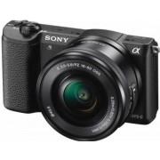 Aparat Foto Mirrorless Sony Alpha A5100 + Obiectiv cu zoom puternic 16-50mm (Negru)