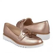 STYLO Zapatos Casuales para Dama Oro Rosado 26