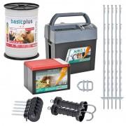 VOSS.farming Electric Fence Starter Kit for Horses, 9 Volt
