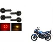 KunjZone Arrow LED Side Indicator for Red&Yellow Set Of 4 For Honda CB Unicorn