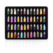 48 Botellas/Set Nail Beauty Nail Art Stickers 3D Polvo Glitter Set Manicura Multi-color Mezclado