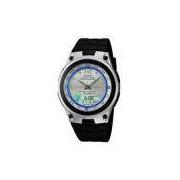 Relógio Masculino Anadigi Casio AW827AVDF - Preto/ Metal