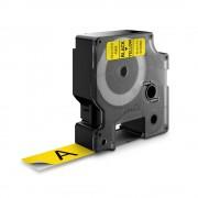 Etichete autocolante plastifiate DYMO LabelManager D1 19mm x 7m negru galben 45808 S0720880