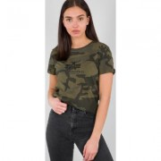 Alpha Industries New Camo Basic Maglietta Ladies Multicolore XS