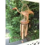 Windgong bamboe met Vogel