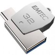 EMTEC USB 2.0 Flash Drive T250C 32 GB Silver