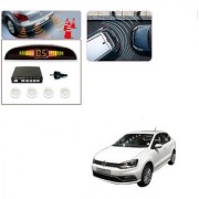 Auto Addict Car White Reverse Parking Sensor With LED Display For Volkswagen Ameo