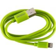 Cablu de date Serioux SRXA-MFI1MLIME, Lightning - USB, 1m (Verde)
