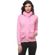 PURYS Baby Pink zip up Fleece jacket