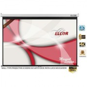 ELCOR Wall type Pull down screens 6ft x 4ft with 84 Diagonal In HD 3D 4K Technology