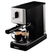 Espressor manual Krups Calvu Auto XP344010, 15 bari, Rezervor 1.1 L, Duză de abur, Oprire automată, Sistem compact Thermoblock, Metal/Negru