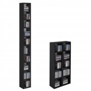 CARO-Möbel CD / DVD Regal CHART mit 10 Fächern in schwarz