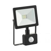 Proiector cu senzor si LED integrat Comtec 10W 900 lumeni IP65, lumina rece