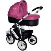 Детска комбинирана количка Lorelli MONZA 3 2in1 Rose and Black с въздушни гуми 2015, 10020791502
