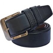 Sunshopping men's black leatherite needle pin point buckle belts