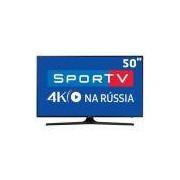 Smart TV LED 50 UHD 4K Samsung 50MU6100 com HDR Premium, Plataforma Smart Tizen, Smart View, Espelhamento de Tela, Steam Link, 3 HDMI e 2 USB