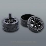 Scrumiera cu capac Black Wheele