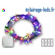 Guirlande lumineuse LED 21.5M multi-couleur-200 led à piles. ref gl-07